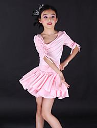 billige -Dansetøj til børn / Ballet Kjoler Træning Spandex Halvlange ærmer / Latin Dans