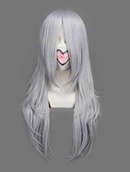 cheap -Cosplay Wigs Final Fantasy Yazoo Silver Medium Anime/ Video Games Cosplay Wigs 64 CM Heat Resistant Fiber Male