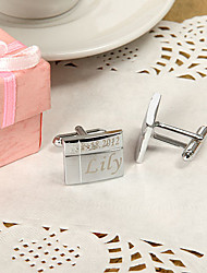 Gift Groomsman Personalized Cross Line Cufflinks