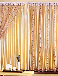 Недорогие -(Одна панель) кофе листьев классический чистый занавес