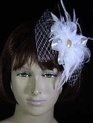 Tulle Feather fascinators flowers headpiece estilo feminino clássico