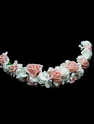 baratos -Mulheres Menina das Flores Espuma Capacete-Casamento Ocasião Especial Flores