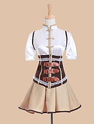 preiswerte -Inspiriert von Mahou Shoujo Madoka Magica Tomoe Mami Anime Cosplay Kostüme Cosplay Kostüme Kleider Patchwork Kurzarm Weste Bluse Rock
