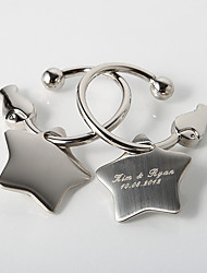 Personalized Star Key Ring (Set of 4)