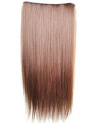 preiswerte -Echthaar Haarverlängerungen Glatt Synthetische Haare 23 Zoll Haar-Verlängerung Alltag