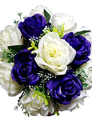 Hochzeitsblumen Rundförmig Rosen Sträuße Hochzeit Satin Purpur ca.28cm