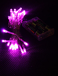preiswerte -3m 30-led pink light 2-mode led string feenhafte lampe für (3xaa)