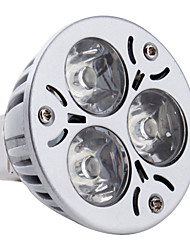cheap -3W 260-300 lm GU5.3(MR16) LED Spotlight MR16 3 leds High Power LED Natural White DC 12V