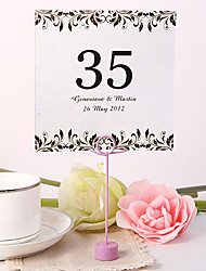 cheap -Place Cards and Holders Personalized Square Table Number Card - Artistic Leaf (Set fo 10)