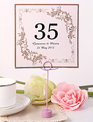 Pearl Paper Table Number Cards 10 Poly Bag Wedding Reception Beautiful