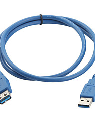 cheap -USB 3.0 A-A Male to Female Extension Cable (1m, Blue)