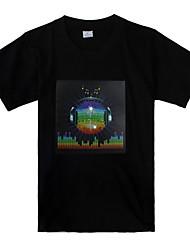 Tee-Shirt LED Musical Motif Terre (3x Piles AAA)
