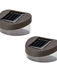 cheap -Set of 2 Warm Yellow Deck And Fence Wall Mount Solar Lights High Quality