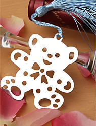 Silver Finish Teddy Bear Bookmark Favor With Tassel