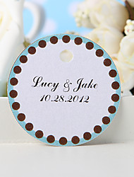 baratos -tag personalizado favor - de volta em um fundo azul (conjunto de 36)