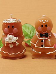 cheap -Adorable Gingerbread Bride & Groom Candle Favors(set of 8) Wedding Favors