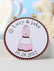 baratos -etiqueta de favor personalizada - avental cor-de-rosa (conjunto de 36) favores de casamento