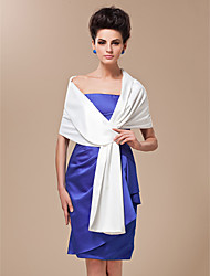 cheap -Silk Satin Wedding Party Evening Casual Women's Wrap Shawls Wedding  Wraps With Tiered Shawls