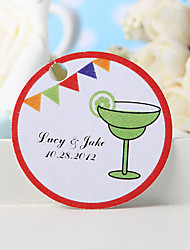 cheap -Personalized Favor Tag - Green Cocktail Glass (Set of 36)