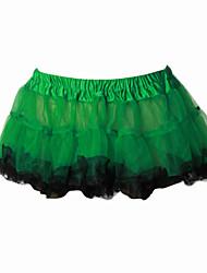 Gonna Dolce Lolita Cosplay Vestiti Lolita Verde Giallo Tinta unita Corto Abito Per Organza