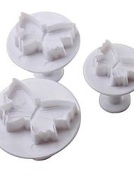 billige -bageform Sommerfugl Cupcake Småkage Kage Plast GDS Høj kvalitet Ferie