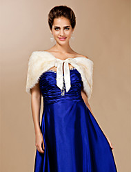cheap -Feather/Fur Party Evening Fur Wraps Wedding  Wraps With Sashes / Ribbons Capelets