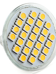 cheap -4W E14 GU10 GU5.3(MR16) E26/E27 LED Spotlight MR16 27 SMD 5050 200-250lm Warm White Natural White 2800K