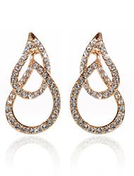 Placcato in oro 18k chiare strass e cristalli di moda orecchini