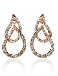 18K forgyldt klare rhinestone & krystal mode øreringe