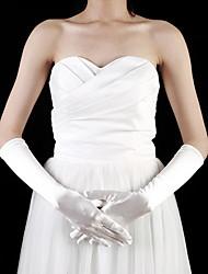Недорогие -атлас локоть длиной пальцев девушки цветка перчатки (более цветов)