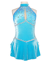 Figure Skating Dress Women's Girls' Ice Skating Skirt Dress Bottoms Spandex Rhinestone Performance Skating Wear Handmade Sleeveless Ice