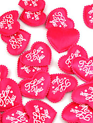 cheap -Wedding Décor Lovely Red Satin Hearts - Set Of 100 Wedding Reception