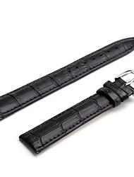 Unisex Genuine Leather Watch Strap 18MM(Black) Cool Watch Unique Watch Fashion Watch