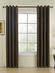 cheap -Two Panels Modern Solid Red Dining Room Polyester Panel Curtains Drapes