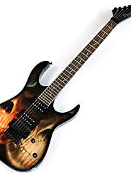 Недорогие -Derulo - профессиональный кости Stratocaster электрогитары с мешком / ремень / выборы / кабель / сглаз бар