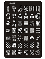 cheap -Nail Art Stamping/Stamper Image Template Plate Nail Stencils/Molds for Acrylic Nail Tips MLS Series NO.5