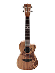 Недорогие -Rainie - (TCO-02) высокого великого твердых акации коа тенор укулеле с концерта мешок / тюнер (океан татуировки)