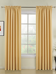 cheap -New Style Yellow Solid Polyester Curtains Drapes