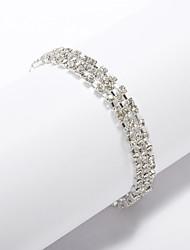 Недорогие -горный хрусталь великолепный женский браслет