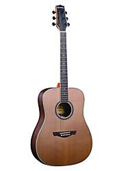 """Недорогие -Ястребы 41 """"продвинутых твердого красного кедра топлес розетка клен обязательным D'Addario строка акустической гитары"""