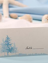 baratos -cartão de lugar - árvore azul (conjunto de 12) convidados de casamento recepção de casamento