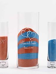 abordables -personnalisé unité embrassant cœur sable ensemble cérémonie - set de 3 (sable non inclus)
