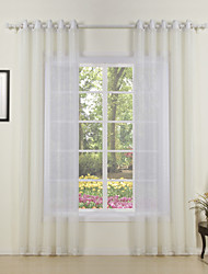 Two Panels Curtain Modern , Solid Living Room Polyester Material Sheer Curtains Shades Home Decoration For Window
