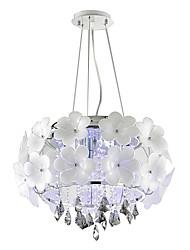 Moderne / Nutidig Krystal Vedhæng Lys Baggrundsbelysning Til Stue Spisestue Entré 110-120V 220-240V Pære ikke Inkluderet