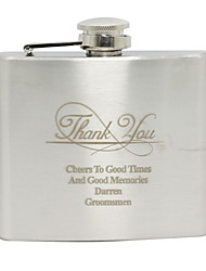 cheap -Stainless Steel Hip Flasks Groom Groomsman Wedding Birthday Thank You