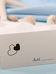 Недорогие -карты места и держатели карты места - сердца (набор из 12) свадебный прием