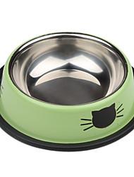 povoljno -mačka uzorak od nehrđajućeg ime ljubimca školjka