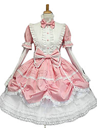 One-Piece/Dress Gothic Lolita Sweet Lolita Classic/Traditional Lolita Punk Lolita Princess Pink Lolita Accessories Dress Bowknot ForLace
