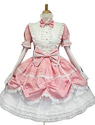 Une Pièce/Robes Gothique Doux Lolita Classique/Traditionnelle Punk Princesse Rose Accessoires Lolita  Robe Nœud papillon PourDentelle