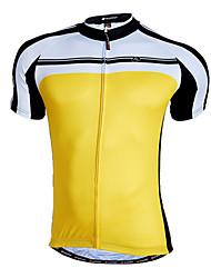 preiswerte -Nuckily Herrn Kurzarm Fahrradtrikot - Schwarz Gelb Rot Blau Fahhrad Trikot/Radtrikot, Rasche Trocknung, Atmungsaktiv